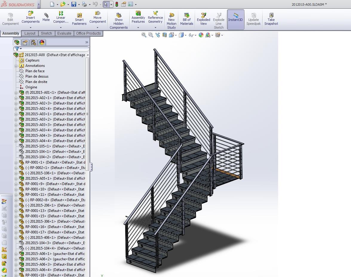escalier solidworks 1